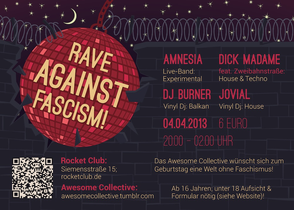 Flyer Awesome Collective Party 04.04.