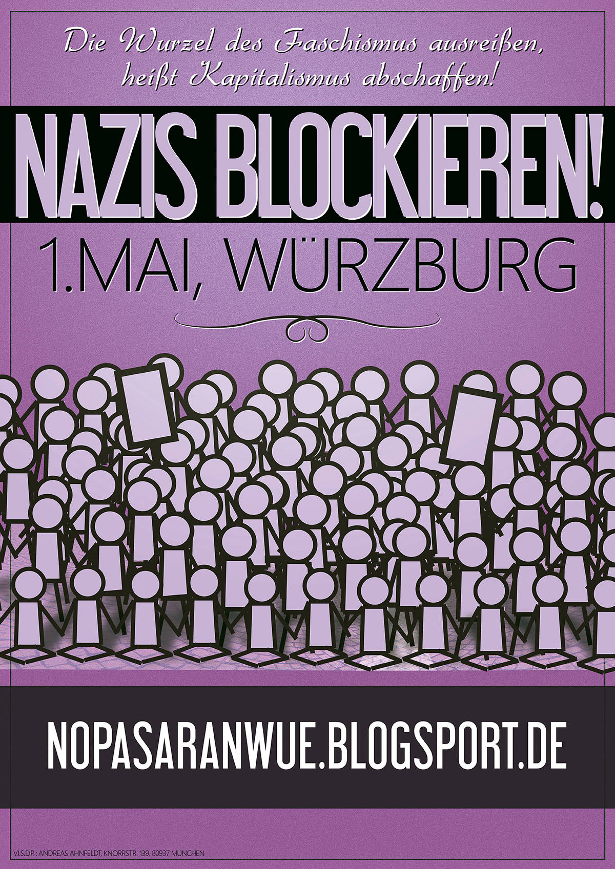 poster-no-pasaran-würzburg